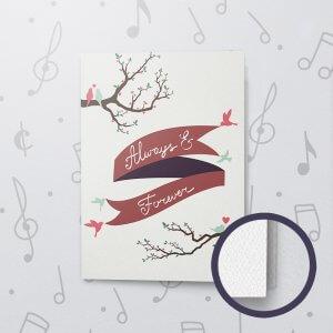 Always & Forever – Musical Love Card - Felt