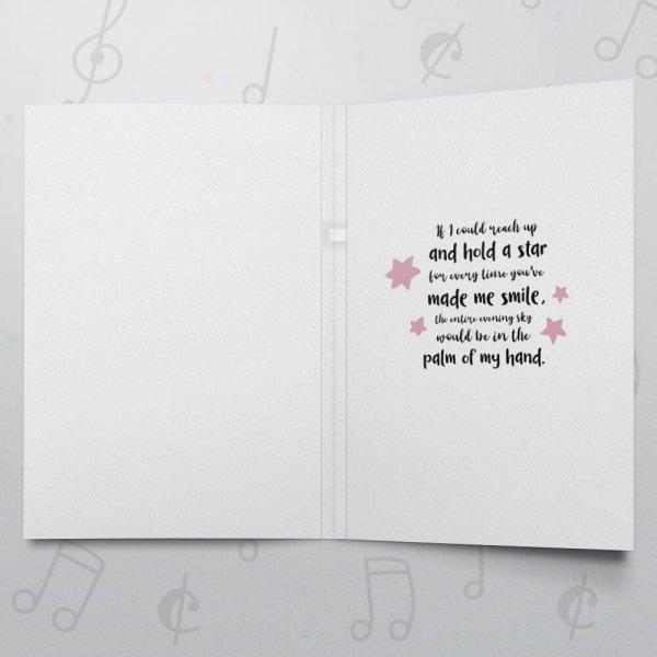 To The Moon – Musical Love Card - Felt