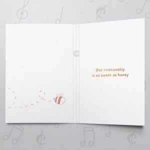 Meant to Bee – Musical Love Card - Metallic Foil