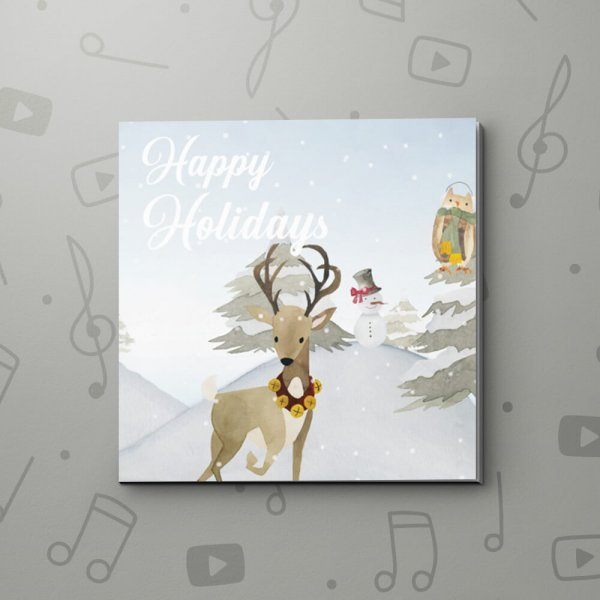 Snowy Holiday – Christmas Video Greeting Card