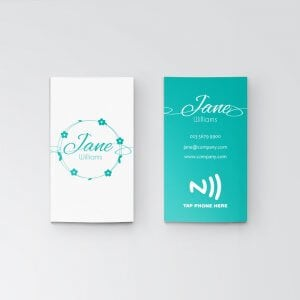 Turquoise - NFC Business Card - Vertical