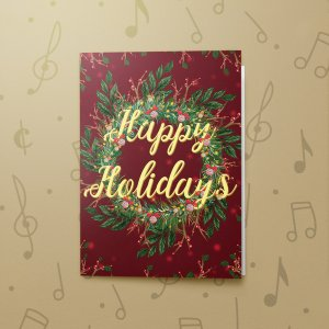 Happy Holidays Wreath – Musical Gift Card Holder