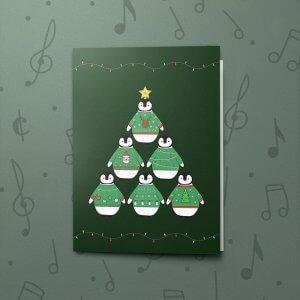 Penguin Christmas Tree – Gift Card Holder