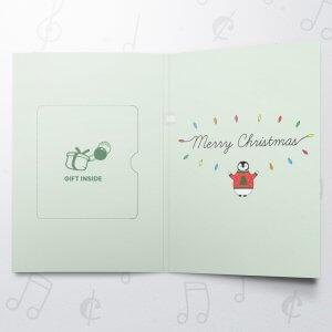 Penguin Christmas Tree – Musical Gift Card Holder