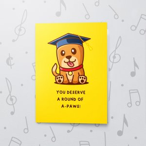 A'Paws 2 – Musical Graduation Card
