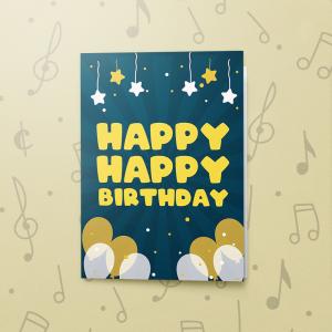 Birthday Balloons – Gift Card Holder