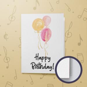 3 Balloons Birthday – Gift Card Holder - Felt
