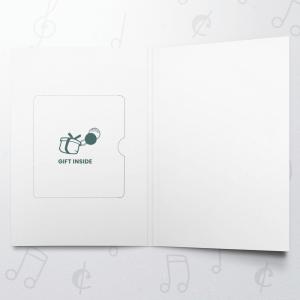 Christmas Green (Gold) – Gift Card Holder