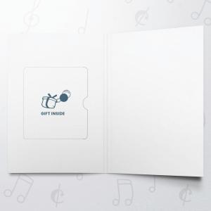 Christmas Doodle Blue – Gift Card Holder